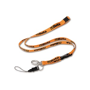 9596 Badge holder, with metal clip and mobile phone string