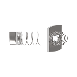 Channel Nut, Long Spring, Stainless Steel Grade A2